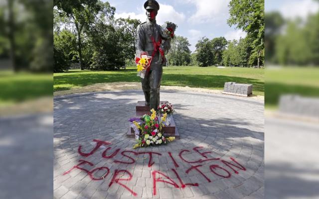 バージニア州リッチモンド、警察署長が記念像の破壊行為を「臆病」法と呼ぶ