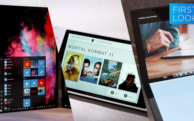 Un clone de commutateur Windows et des ordinateurs portables à double écran sont les prochains grands concepts de Dell