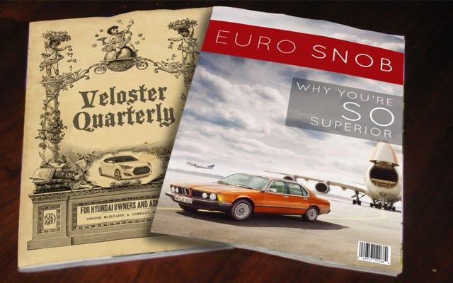 存在しないが存在するはずの自動車雑誌、ランク付け