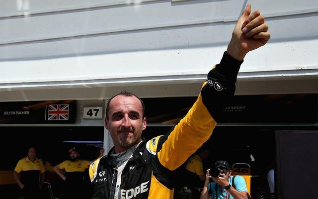 Mężczyzna, który prawie odciął ramię, pomyślnie prowadzi samochód Formuły 1