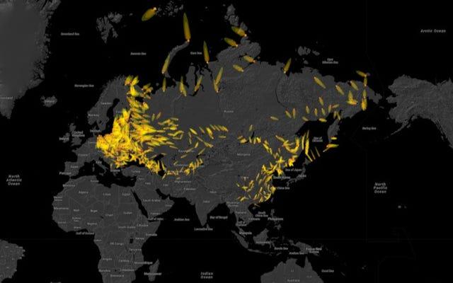 恐ろしいインタラクティブマップは、放射性降下物の荒廃を視覚化します
