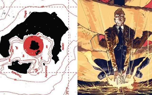 ヘルブレイザーとスカーレットウィッチは魔法を使って漫画のページを変形させます