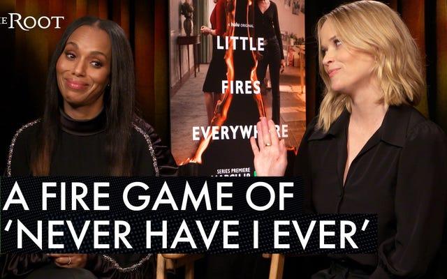 Маленькие пожары повсюду: мы играем в огненную игру 'Never Have I Ever' с Керри Вашингтон и Риз Уизерспун