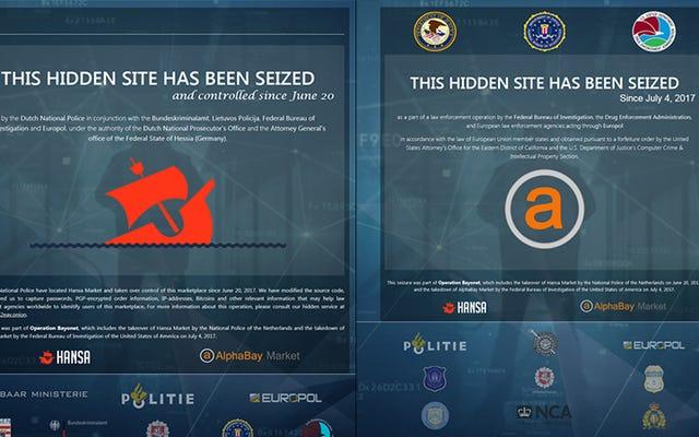 अधिकारियों ने दो प्रमुख डार्क वेब बाजारों को बंद किया