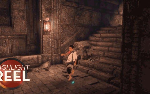 最後の守護者の少年は、今まで踊ったことがないように踊っています