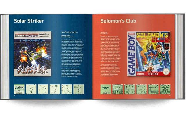 Aquí hay un libro lleno de arte de caja de Game Boy