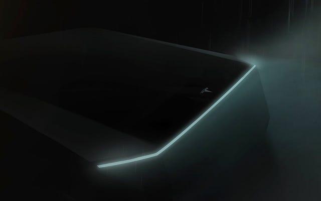 テスラは今月、サイバーパンクに見える電動ピックアップを発表します