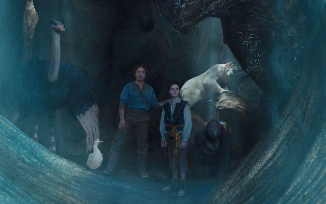 Des sources internes suggèrent que Robert Downey Jr. est venu avec l'apogée du lavement de dragon de Dolittle