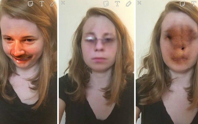La nouvelle fonctionnalité d'échange de visage de Snapchat est un bon rappel de toute la merde étrange dans la pellicule de votre téléphone