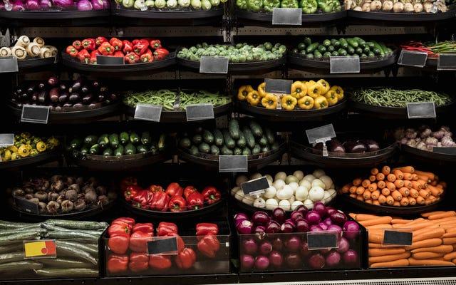 オクラホマシティのディスカウントストアでは、新鮮な野菜をストックする必要があります