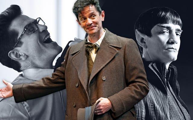 スポックのお父さんを演じ、トゥルーブラッドで最大の牙を身に着けているジェームズ・フレイン