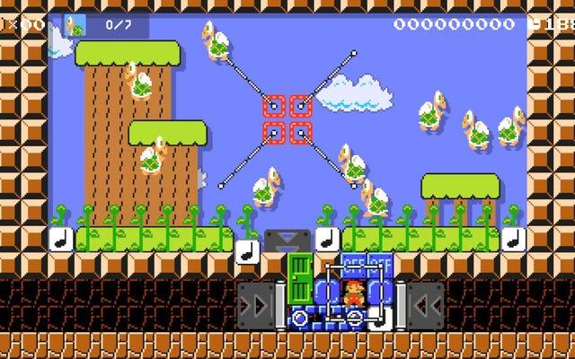 プレイヤーがマリオメーカー2でアヒル狩りをする