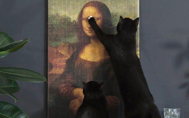 傑作の引っかき傷の投稿はあなたの猫に貴重な芸術作品を破壊させます