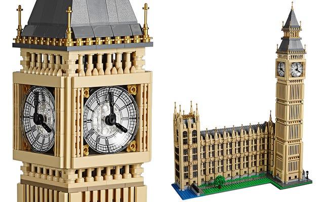 Le prochain chef-d'œuvre architectural de Lego est une réplique de deux pieds de haut de Big Ben