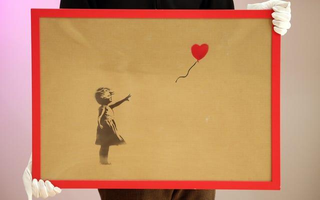 Hier ist eine eingehende Untersuchung darüber, wie echt Banksys Art-Shredder-Streich war