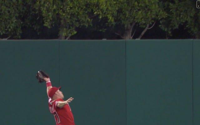 マイク・トラウトが出塁率を伸ばし、エンゼルスが再び負けると驚くべきキャッチをします
