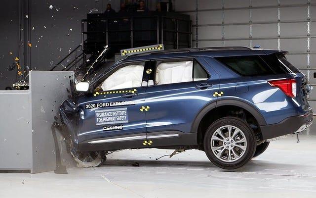 La résistance aux chocs du Ford Explorer 2020 n'est pas suffisamment améliorée pour l'IIHS