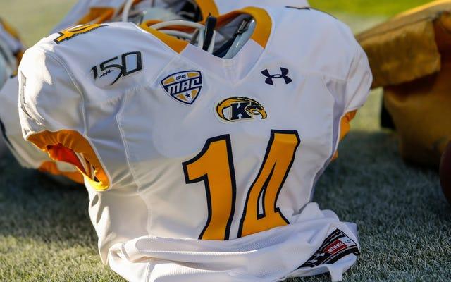 ケント州立大学は、フットボールチームの試合前の花火を残業フィールドホッケーゲームよりも重要であると判断しました