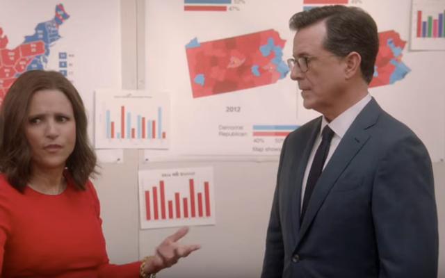 Stephen Colbert salta nell'universo di Veep per implorare Selina Meyer di smetterla con il nostro