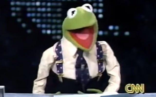 Năm 1994, Kermit The Frog trở thành người dẫn chương trình Larry King Live của CNN