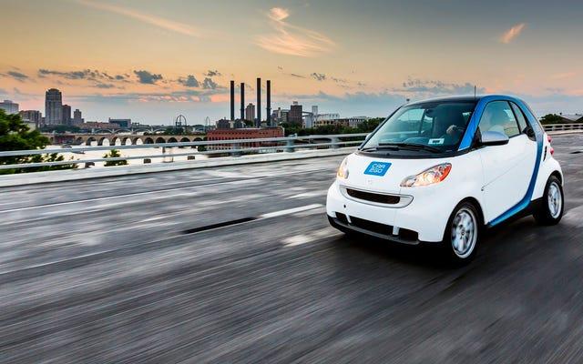 La Smart Car sta finalmente uscendo da Car2Go in America