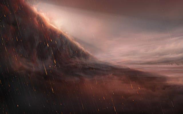 この地獄の太陽系外惑星に雨が降る可能性があります