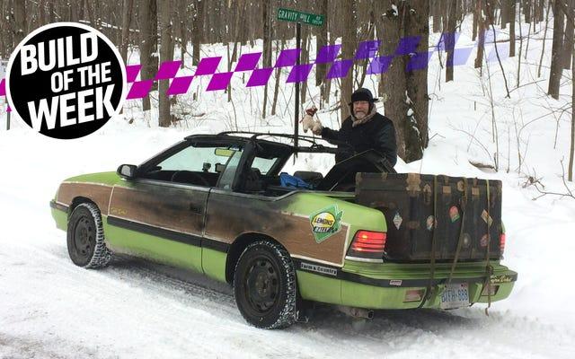 Ce film hommage Chrysler LeBaron a été brûlé à vif pour la domination de la neige