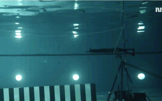 映画と現実:水中で発射された弾丸は1メートル強を移動します