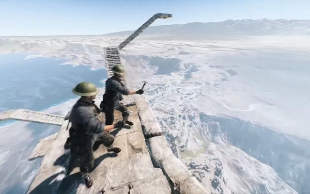Le nouvel œuf de Pâques Battlefield V incite les joueurs à construire un escalier dans le ciel