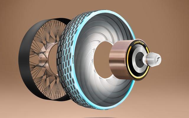 グッドイヤーの最新コンセプトは、ピルを使って交換できるタイヤです