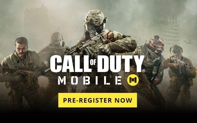 Pré-inscrivez-vous maintenant pour la bêta 'Call of Duty: Mobile' sur iOS et Android