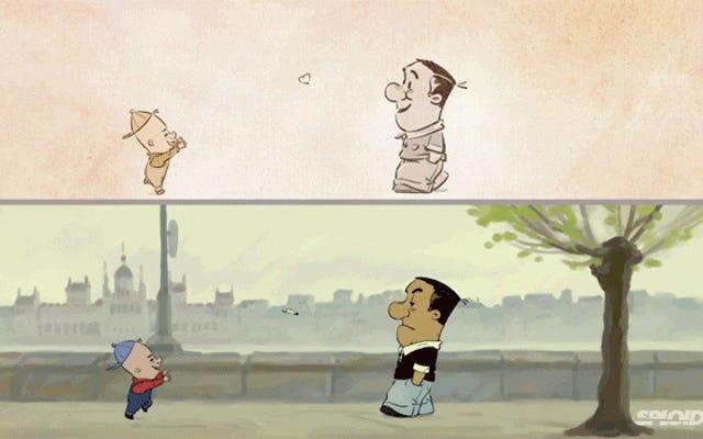 巧妙なアニメーションは、私たちが自分の本当の気持ちを世界に隠す方法を示しています
