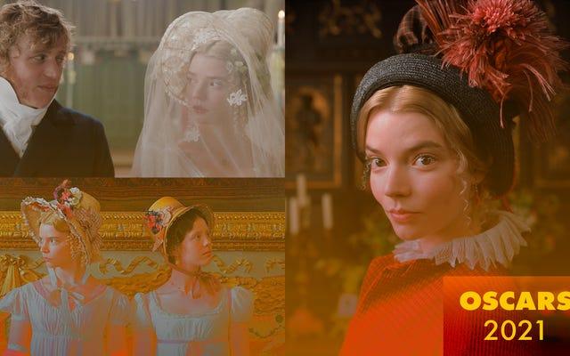 एम्मा कॉस्ट्यूम डिजाइनर एलेक्जेंड्रा बायरन ने हमें फिल्म के सभी बेहतरीन लुक के जरिए चलता किया