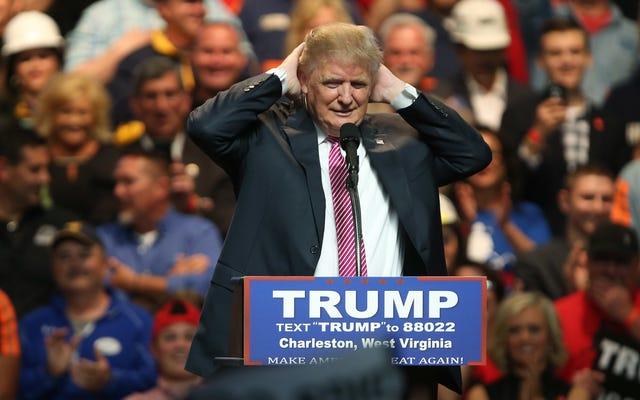 ついに戦争に勝ったトランプにおめでとう...シャワーヘッドに対して