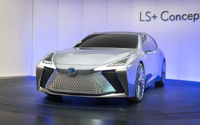 लेक्सस LS + कॉन्सेप्ट एक शहर में खुद को चलाने के लिए बनाया गया है