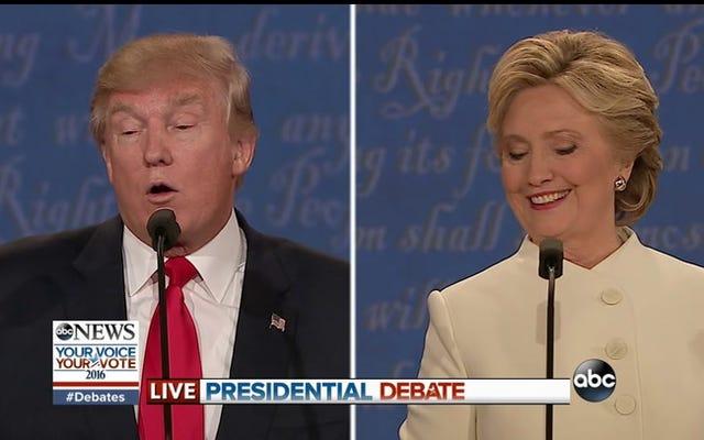 ドナルド・トランプは選挙結果を受け入れるかどうかを言うことを拒否し、彼はエミー賞を獲得すべきだったと主張する
