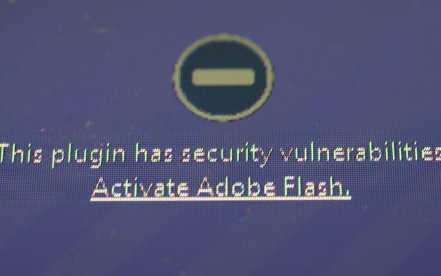 Vous ne devriez vraiment pas utiliser Adobe Flash. Vous pouvez donc le désactiver