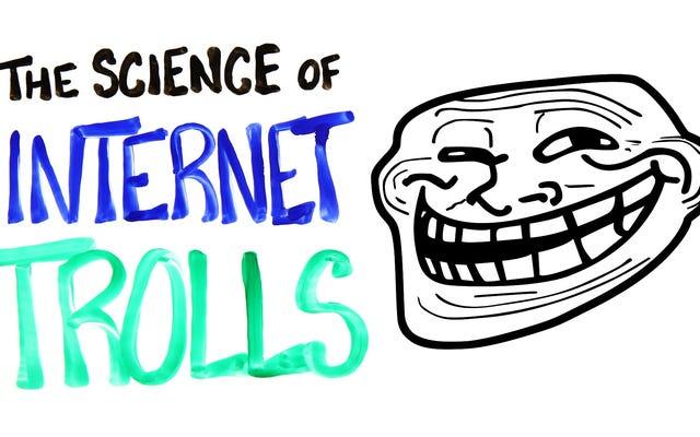 Nauka o internetowych trollach wyjaśniona w prostym filmie