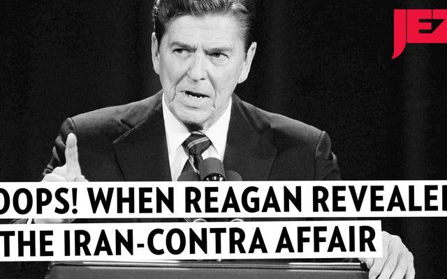 ロナルド・レーガンが誤ってイラン・コントラ事件を選挙討論中に明らかにした時を思い出そう