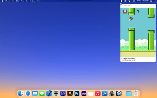 Flappy Bird a été réactivé en tant que notification MacOS interactive