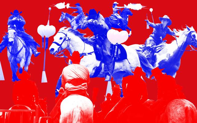 Le tir à cheval en cowboy est un sport avec ses propres idées sur le Far West