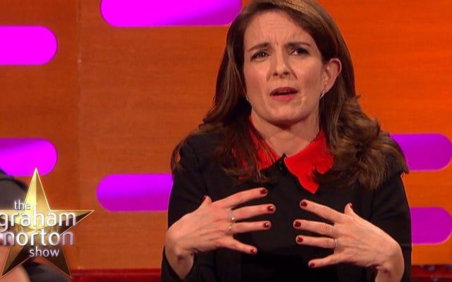 ティナ・フェイは、公共の場でブラを試着したことの優しい少女時代の記憶を語ります