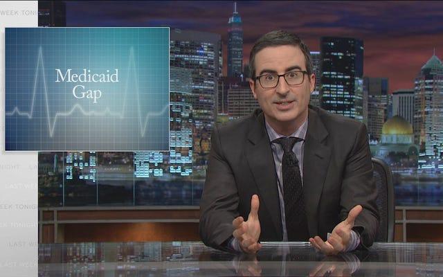 John Oliver y Last Week Tonight abordan la perniciosa brecha de Medicaid