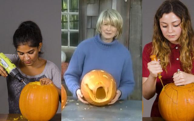 Nous avons sculpté des citrouilles à la manière de Martha Stewart et avons échoué de manière spectaculaire