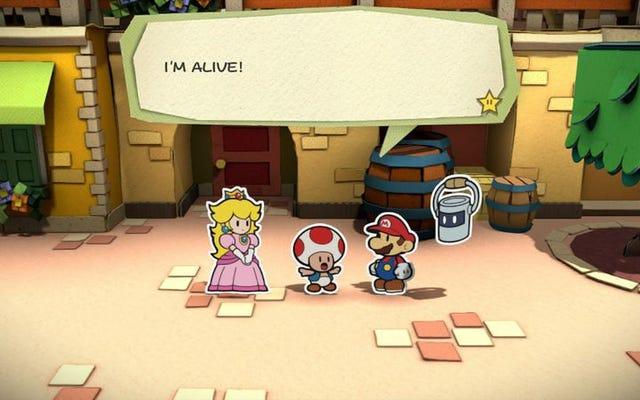 Paper Mario, Nintendo'nun yıldız yazısını gösterdiği yerdir