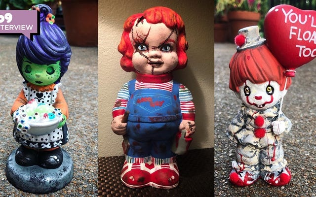 This Artist Turns 'Precious Moments' Into Halloween Horrors