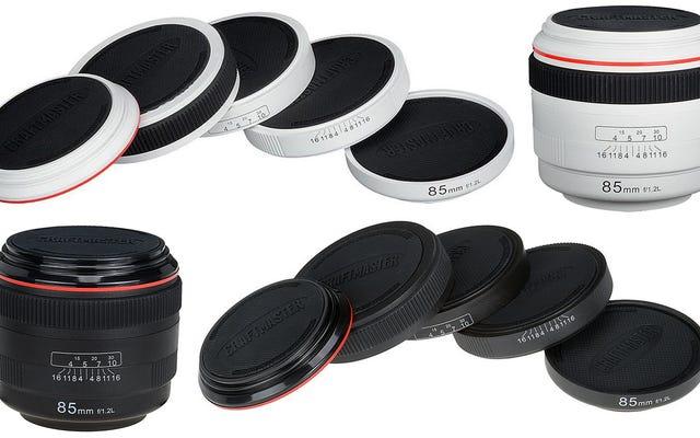 कैमरा लेंस कोस्टर आपके फोटोग्राफी स्टूडियो के बाहर कॉफी के छल्ले रखें
