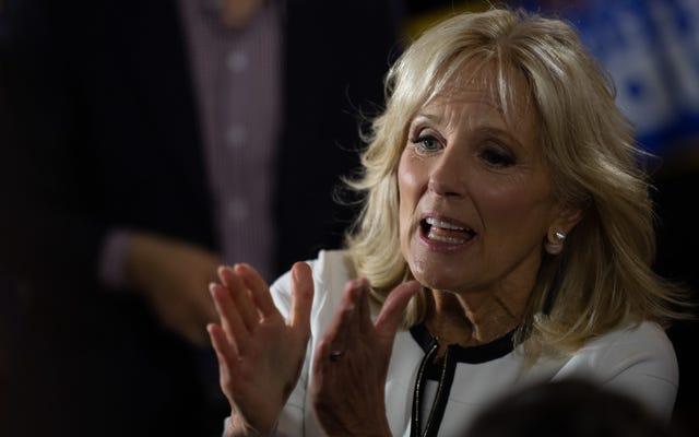 Jill Biden vous supplie de tenir votre nez et de voter pour son mari