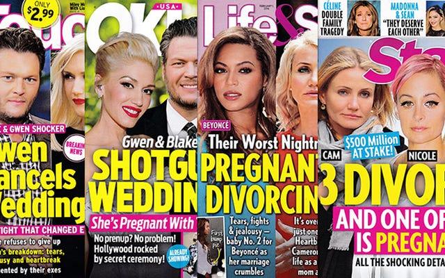 今週のタブロイド紙:キャメロン?離婚!ビヨンセ?離婚!グウェンとブレイク?知るか!