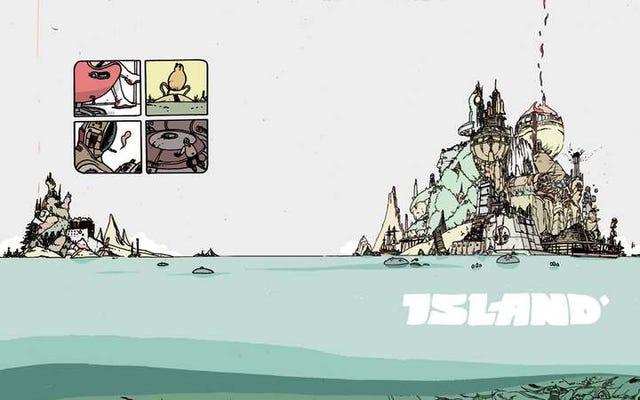 これが最初のアイランドコミックアンソロジーの独占的な一見です